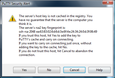 Accessing VMware with PuTTY