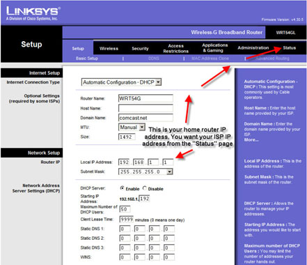 Linksys Ip Address >> Accessing Vmware Remotely Via Linksys Router