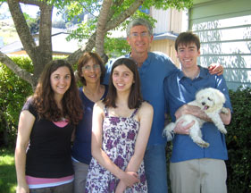 Rich with daughters and dog